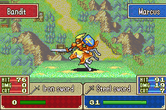 Fire Emblem - tripped horse dead bandit - User Screenshot
